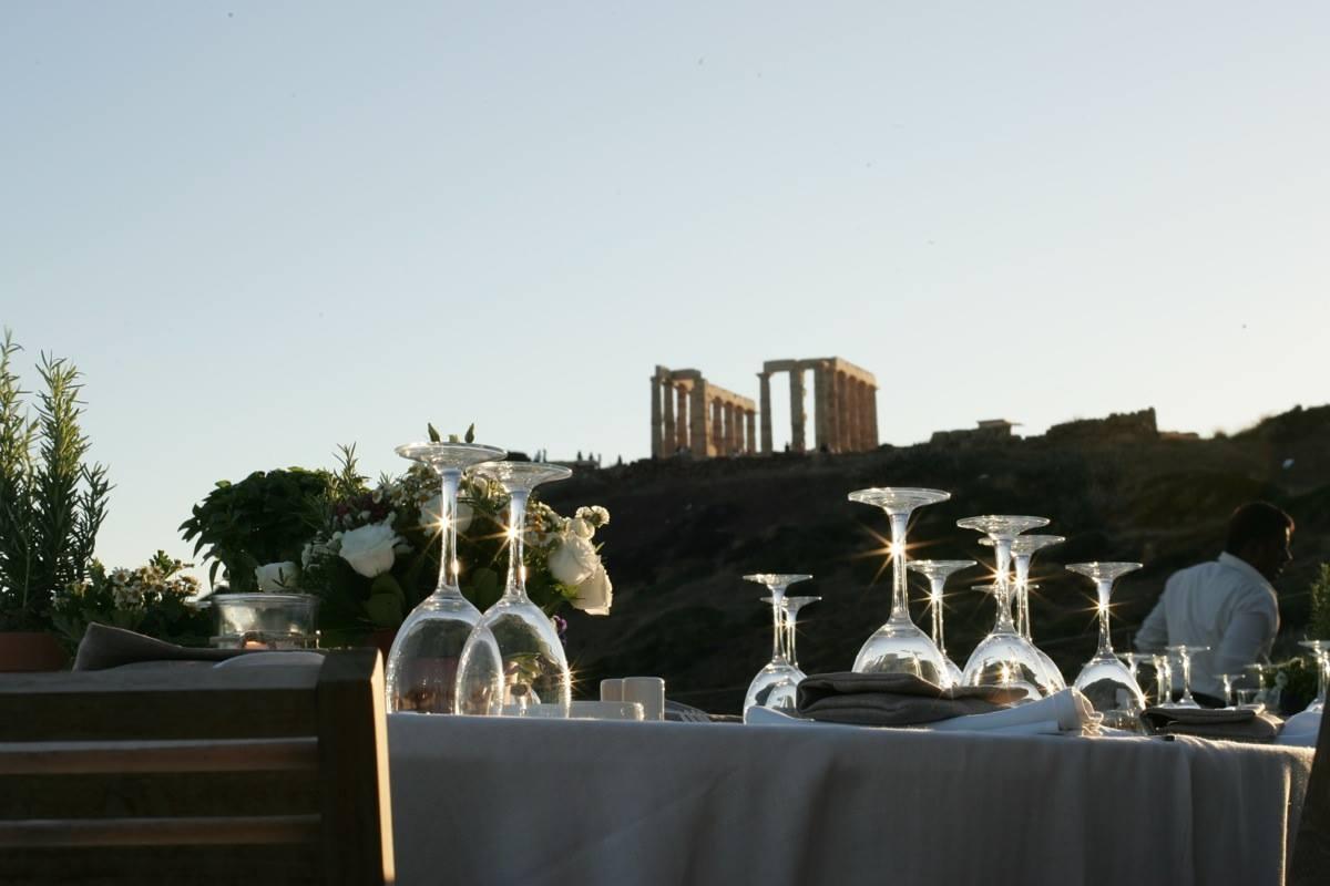 Γαμήλια δεξίωση με θέα αρχαιολογικό χώρο