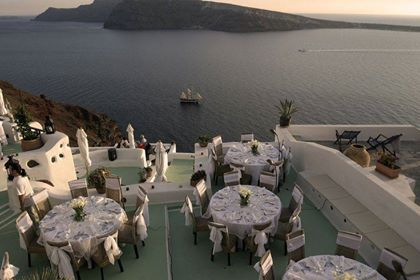 Δεξίωση γάμου σε νησί