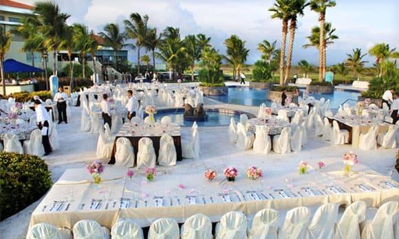 Δεξίωση γάμου σε resort